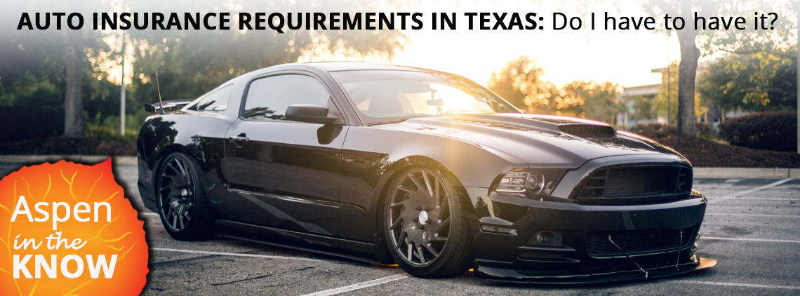 AUTO INSURANCE REQUIREMENTS IN TEXAS